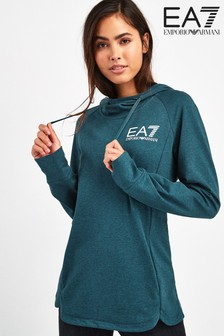 EA7 Teal Over Head Hoody