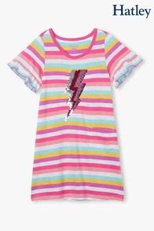 Hatley Pink Flip Sequin Bolts T-Shirt Dress