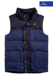 Joules Navy Matchday Padded Gilet