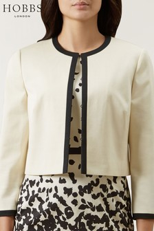 Hobbs Cream Arabella Jacket