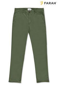 Pantalon chino Farah en sergé vert