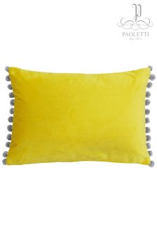 Riva Home Fiesta Velvet Pom Pom Cushion