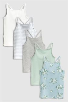 Floral Vest Five Pack (3-16yrs)