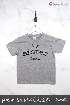 Personalised Big Sibling T-Shirt by Loveabode