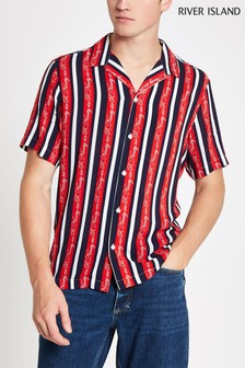 River Island Multi Stripe Short Sleeve Shirt