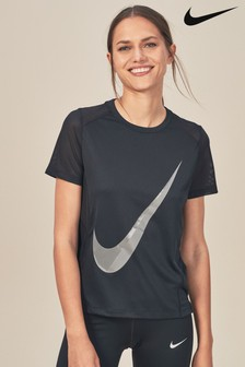 Nike Black Miler Short Sleeve Top