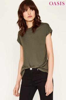 Oasis Green Relaxed Tee
