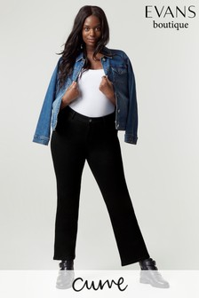Evans Curve Black Bootcut Jeans