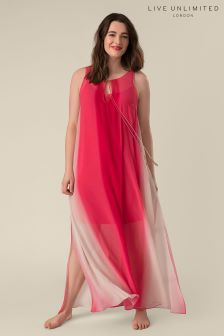 Live Unlimited Raspberry High Low Hem Trapeze Dress