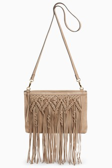 Leather Macramé Clutch