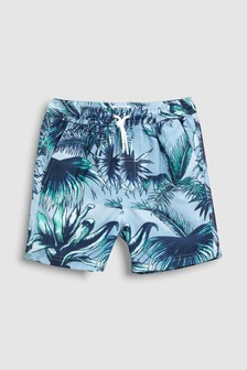 Hibiscus Print Swim Shorts (3-16yrs)