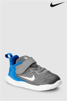 Nike Run Grey/Blue Free Run Velcro