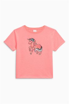 Sequin Unicorn Short Sleeve T-Shirt (3-16yrs)
