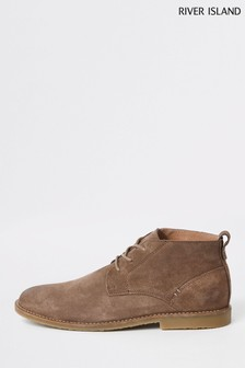 River Island Brown Suede Boot