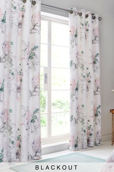 Watercolour Floral Curtains
