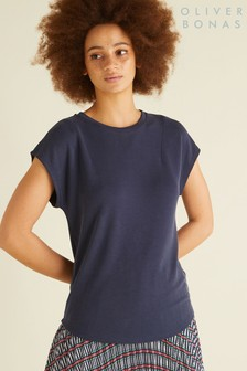 Oliver Bonas Blue Nomad Open Back Top