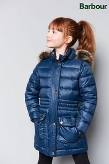 Barbour® Navy Redpole Quilted Coat