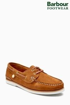 Barbour® Tan Suede Bowline Boat Shoe