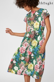 Thought Green Leolani Dress