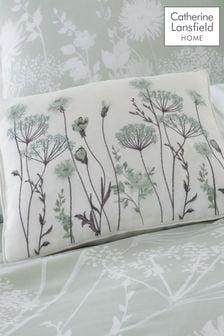 Catherine Lansfield Grey Meadowsweet Cushion