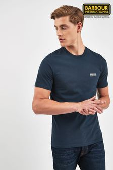 Barbour® International Navy Small Logo Tee