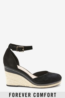 Forever Comfort® Leather Closed Toe Wedges