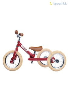 2-In-1 Red Vintage Balance Bike by Hippychick