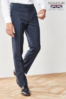 Slim Fit Empire Mills Signature British Wool Suit: Trouser