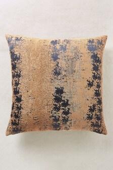 Metallic Abstract Jacquard Cushion