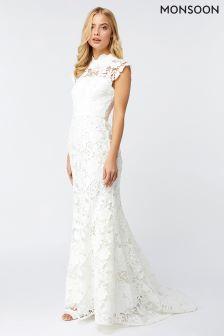 Monsoon Ivory Emilie Lace Bridal Maxi Dress