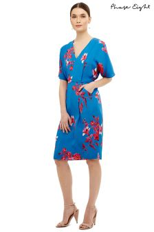 Phase Eight Delphinium/Carmine Brooke Floral Batwing Dress