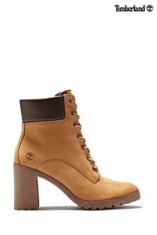 Timberland® Tan Allington 6 Inch Block Heel Boots