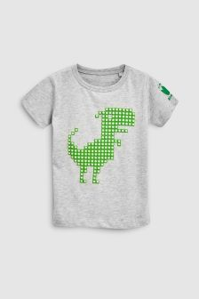 3D Dino Short Sleeve T-Shirt (3mths-6yrs)