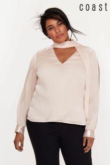 Coast Pink Tisha Sequin Cuff Blouse