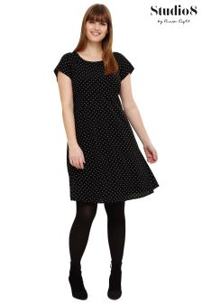 Studio 8 Black Maria Polka Dot Swing Dress