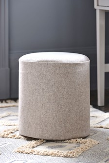 Milan Stool Wool Blend Stone