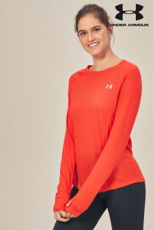 Under Armour Orange Streaker Long Sleeve Top