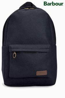 Barbour® Navy Melton Wool Backpack