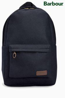 Barbour® Navy Melton Wool Backpack