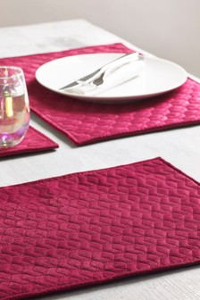 Set of 4 Velvet Placemats