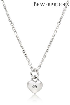 Beaverbrooks Children's Silver Diamond Heart Pendant