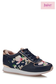 baker by Ted Baker Blue Print Trainer