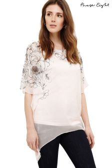 Phase Eight Soft Pink Ivana Silk Trail Blouse