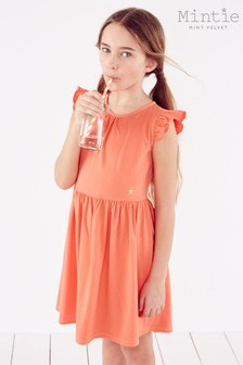 Mintie by Mint Velvet Coral Jersey T-Shirt Dress