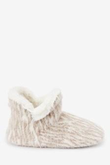 Pletené čižmové papuče