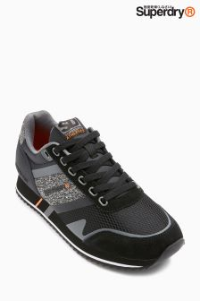 Superdry Black Fero Runner Trainer