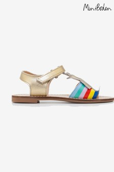 Boden Gold Holiday Sandal