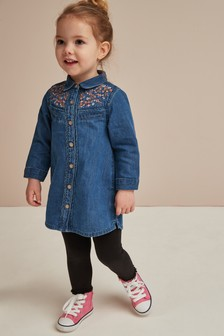 Embroidered Western Shirt Dress (3mths-6yrs)