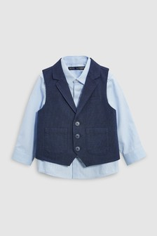 Waistcoat And Shirt Set (3mths-6yrs)