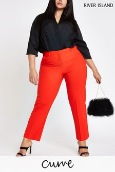 River Island Curve Red Smart Trouser
